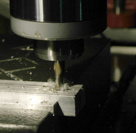 AKI expands tool room capabilities - Close up of milling